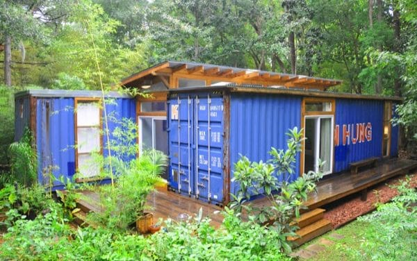 A Modern Home Made from Two Reclaimed Shipping Containers