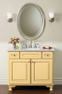 Photo of Mid Continent Cabinetry yellow Vanity unit - sustainable bathroom vanities elemental green