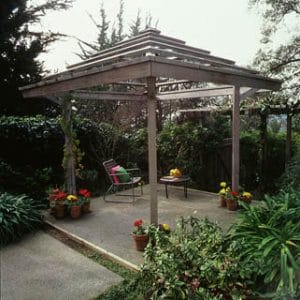 gazebo, Sustainable Advantages and Inspirations of Redwood on elemental green