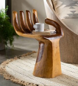Suar Wood Carved Hand Accent by VivaTerra